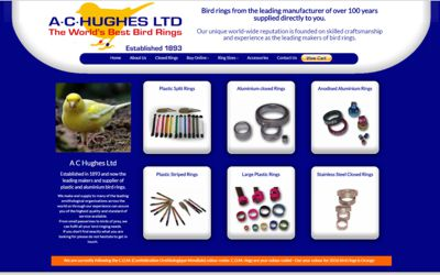 A C Hughes Bird Rings | A C Hughes - website design & SEO from A Clear Web Worthing