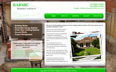 Barmic Property Services - website design from A Clear Web Worthing
