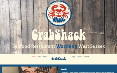 Seafood Restaurant Worthing West Sussex - website design & SEO from A Clear Web Worthing