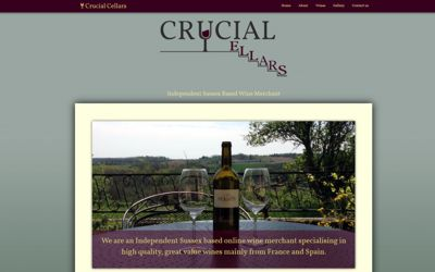 Crucial Cellars - website design & SEO from A Clear Web Worthing
