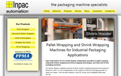 Inpac Automation - website design from A Clear Web Worthing