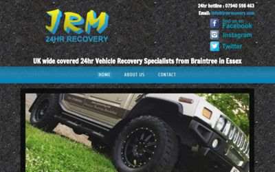 JRM 24Hr Recovery - website design from A Clear Web Worthing