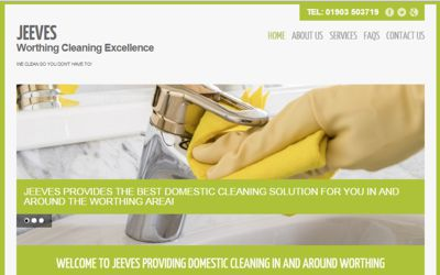 Jeeves-Cleaning - website SEO from A Clear Web Worthing