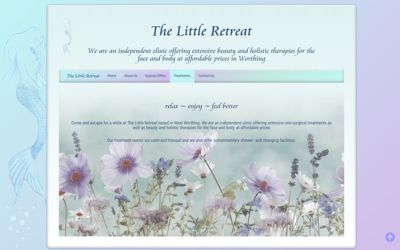 Thr Little Retreat Worthing - website design from A Clear Web Worthing