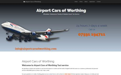 Airport Cars of Worthing | Airport Taxi service - website design & SEO from A Clear Web Worthing